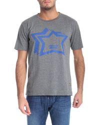 Atlantic Stars - Grey Printed T-shirt - Lyst