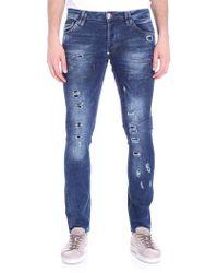 Philipp Plein - Blue Storm In A Teacup Jeans - Lyst