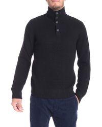 Paolo Pecora - Black Wool Sweater - Lyst