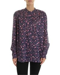 Étoile Isabel Marant - Mexika Shirt In Blue And Pink - Lyst