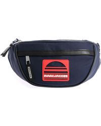 Marc Jacobs - Blue Waistbag With Red Logo - Lyst