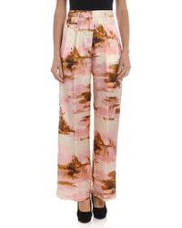 Jucca - Pink Shades Palazzo Trousers - Lyst