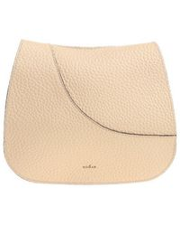 Hogan - Beige Shoulder Bag With Flap - Lyst