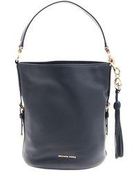 Michael Kors - Brooke Bucket Bag In Blue Leather - Lyst