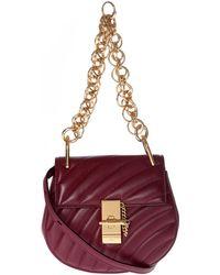 Chloé - Plum Purple Leather Drew Bijou Mini Bag - Lyst