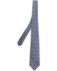 Isaia - Blue Giove With Light-blue Embroideries - Lyst
