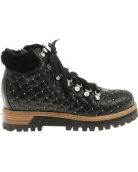 Le Silla - Quilted Lace-up Ankle Boots - Lyst