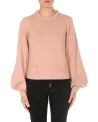 Chloé - Pink Cashmere Wool Pullover - Lyst