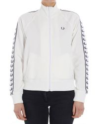 Fred Perry - White Sweatshirt With Logo - Lyst