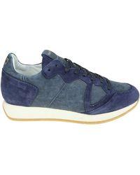 Philippe Model - Sneakers Monaco Vintage blu - Lyst