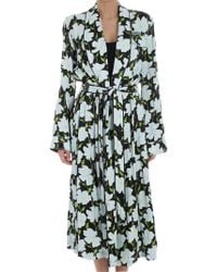 Off-White c/o Virgil Abloh - Black Pajama Overcoat - Lyst