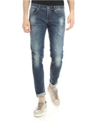 Dondup - Jeans Ritchie blu con strappi - Lyst