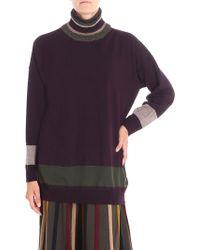 Antonio Marras - Plum Color Pullover With Lamé Thread Inserts - Lyst