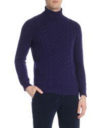 Drumohr - Purple Knitted Turtleneck Sweater - Lyst