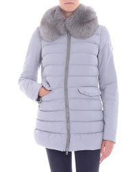 "Peuterey - ""misae Ag"" Grey Down Jacket - Lyst"