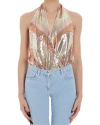 Patrizia Pepe - Pink Body With Sequins ( Jeans) - Lyst