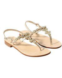 Twin Set - Golden Jewel Sandals - Lyst