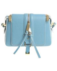 Elisabetta Franchi - Light Blue Shoulder Bag - Lyst