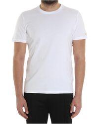 Diadora - White T-shirt With Logo - Lyst