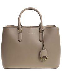 Lauren by Ralph Lauren - Dove Grey Color Shoulder Bag - Lyst