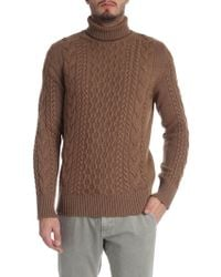 Jurta - Camel Colored Knitted Turtleneck - Lyst