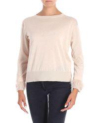 Max Mara Studio - Pink Vortice Sweater - Lyst