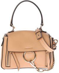 b3a483c33898 Chloé - Blush Nude Color Leather Faye Day Medium Bag - Lyst