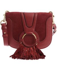 See By Chloé - Dark Red Cross-body Bag With Tassels - Lyst