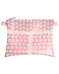Luisa Cevese Riedizioni - Pink Shoulder Bag With Geometric Print - Lyst