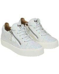 Giuseppe Zanotti - Glittery Low-top Sneakers - Lyst