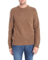 DSquared² - Camel Colored Roundneck Pullover - Lyst