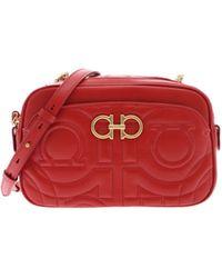 f840b611dc06 Ferragamo - Gancini Crossbody Bag In Red - Lyst
