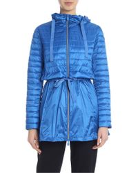Save The Duck - Hooded Jacket In Blue - Lyst