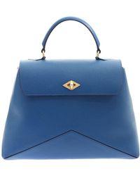 Ballantyne - Diamond Bag In Blue Hammered Leather - Lyst