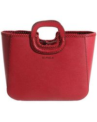 Almala - Red Hammered Leather Elegance Bag - Lyst
