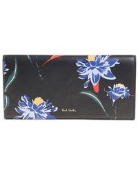 Paul Smith - Dark Blue Pacific Rose Wallet - Lyst