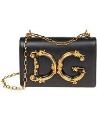 c075d5230019 Lyst - Dolce   Gabbana Baroque Logo Shoulder Bag in Metallic