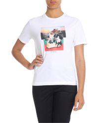 Paul Smith - Dog And Bone Printed T-shirt In White - Lyst