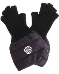 Moncler - Black Quilted Gloves - Lyst