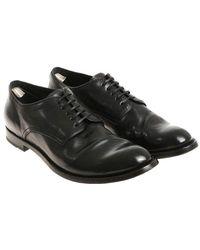 Officine Creative - Black Derby Shoes - Lyst