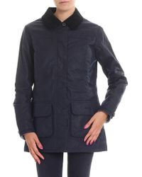 Barbour - Blue Padded Coat - Lyst
