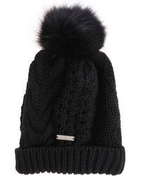 Woolrich - Black Tricot Beanie - Lyst