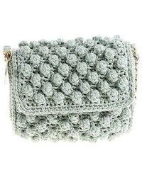 M Missoni - Aquamarine Knitted Shoulder Bag - Lyst