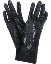"""adidas By Stella McCartney - Black """"run"""" Gloves With Logo - Lyst"""