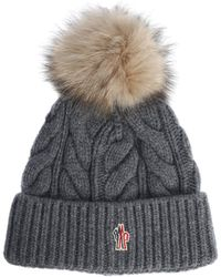 1a81228fd78 Lyst - Moncler Grenoble Ribbed Knit Beanie in White