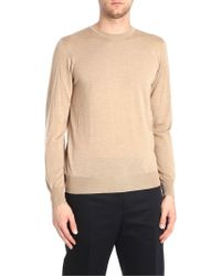 Jil Sander - Sand Color Wool And Silk Pullover - Lyst