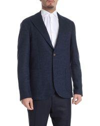 Eleventy - Semi-lined Melange Blue Two-button Jacket - Lyst