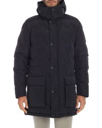 Z Zegna - Blue Down Jacket With Removable Hood - Lyst