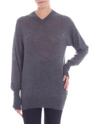 Helmut Lang - Grey Cashmere Sweater - Lyst
