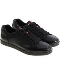 Prada - Black Trainers - Lyst